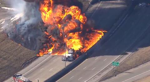 Detroit Truck Fire