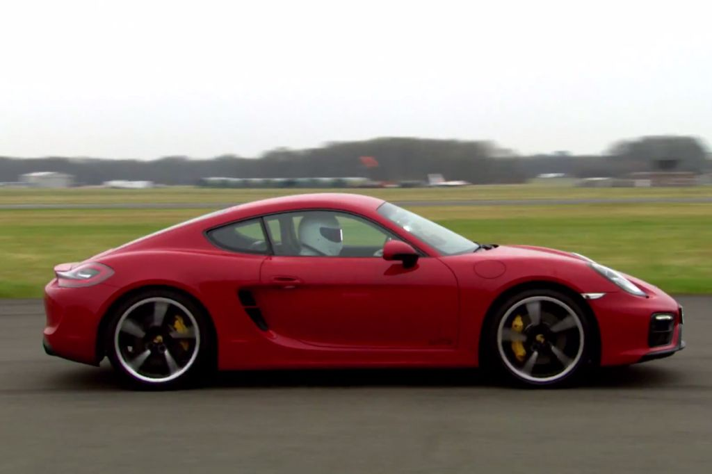 Stig's-eye view: Cayman GTS laps the Top Gear track
