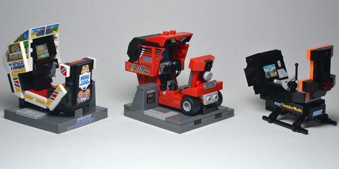 LEGO Sega Arcade Cabinets by Garrett Yoshimura