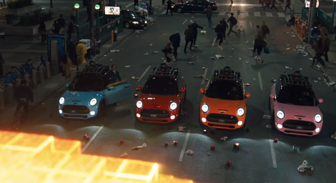 Mini Coopers will save the world from Pac-Man in Pixels