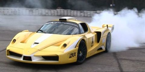 Watch this FXX-style Ferrari Enzo do insane donuts