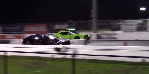 Gasoline Reigns Supreme In Hellcat Vs Tesla Rematch