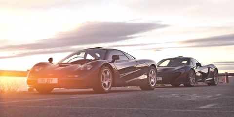 Driving a McLaren P1 and the legendary F1 back to back