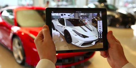 Ferrari VR app lets you customize in the showroom