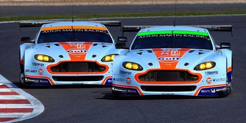 Aston Martins at Silverstone