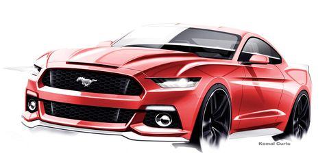 2015 Ford Mustang Design Sketch