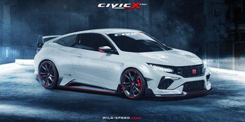 Civic enthusiast site renders killer Honda Civic Type R