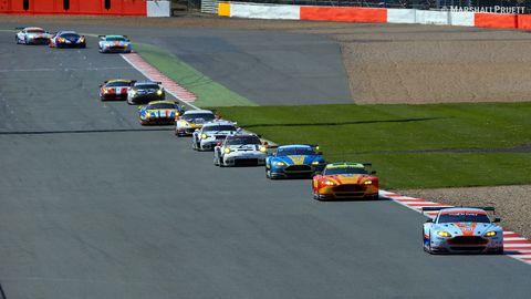 Silverstone WEC Marshall Pruett GT Race Start