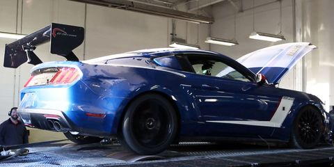 Roush gets 747 rear-wheel horses out of a grimy 2015 Mustang