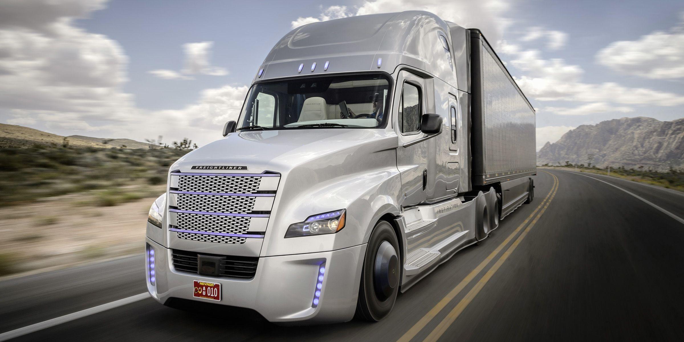 Freightliner&#x3B; Daimler Trucks&#x3B; Daimler&#x3B; Daimler Trucks North America&#x3B; DTNA&#x3B; autonomous driving&#x3B; autonomous&#x3B; autonomous vehicle&#x3B; licensed&#x3B; street legal&#x3B; autonomes Fahren&#x3B; autonom&#x3B; zugelassen&#x3B; Nevada&#x3B; Las Vegas&#x3B; USA&#x3B; Inspiration Truck&#x3B; Inspiration