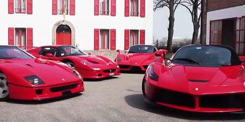 Four Ferrari hypercars, one legendary factory driver