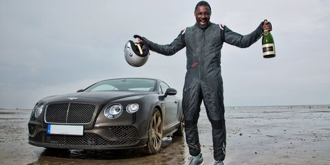"Idris Elba breaks ""Flying Mile"" speed record from 1927"