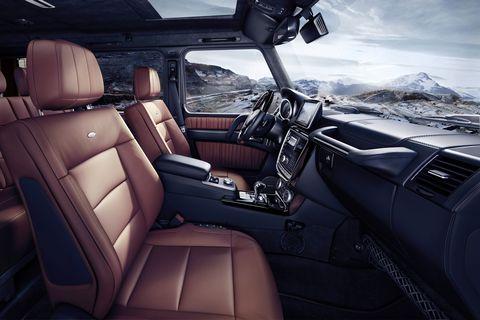 Mercedes-Benz G-Class (BR 463) 2015; G 500Interieur: designo Nappaleder hellbrauninterior: designo nappa leather light brown