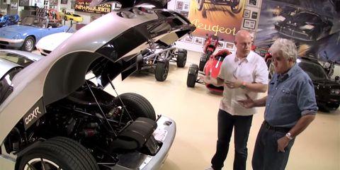 Leno meets Koenigsegg's founder, drives a Trevita CCXR