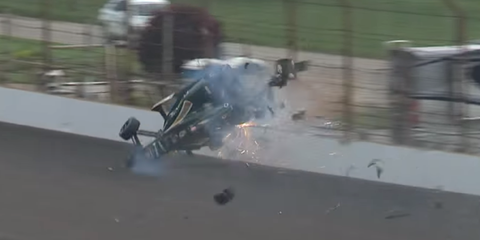 Ed Carpenter crash at Indy 500 practice