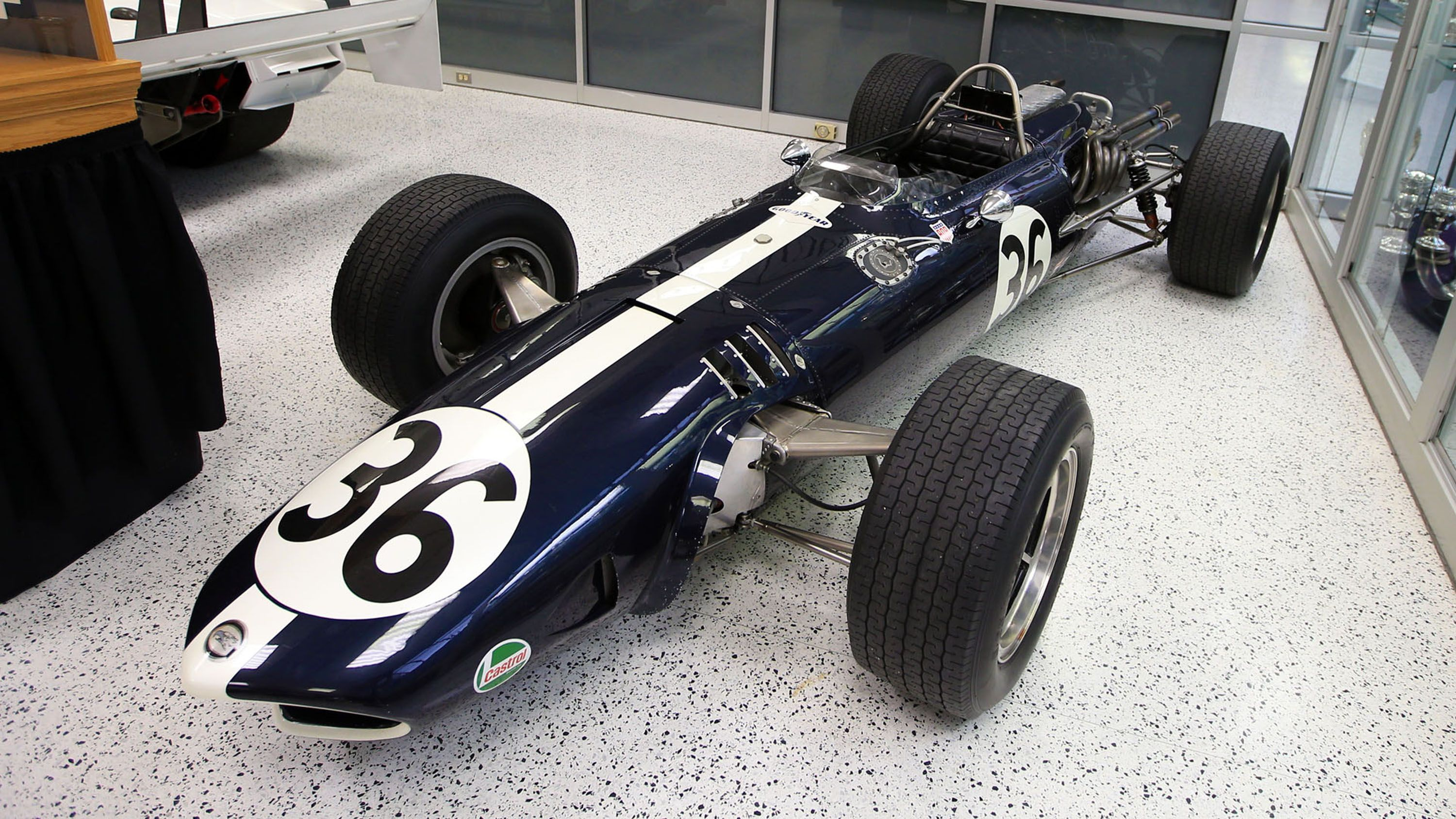 Photos from the 2015 Indy 500 Museum where the legendary driver/owner/innovator Dan Gurney and cars from his All American Racers are featured. © Marshall Pruett 2015, Indianapolis, IN