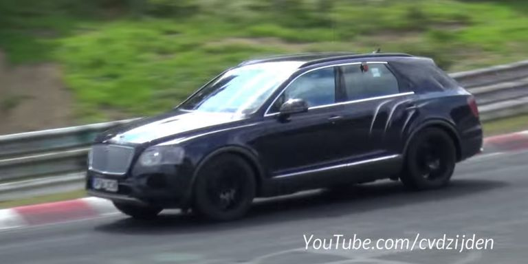 Bentley SUV caught inexplicably testing at Nürburgring