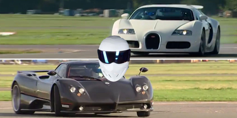 bugatti vs. pagani on top gear