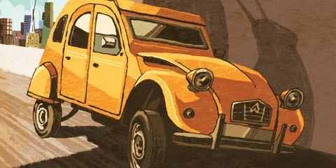 Motor vehicle, Mode of transport, Automotive design, Vehicle, Yellow, Land vehicle, Transport, Vehicle door, Automotive tire, Automotive parking light,