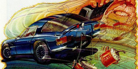 Motor vehicle, Automotive design, Automotive lighting, Car, Hood, Automotive parking light, Classic car, Fender, Automotive exterior, Art,
