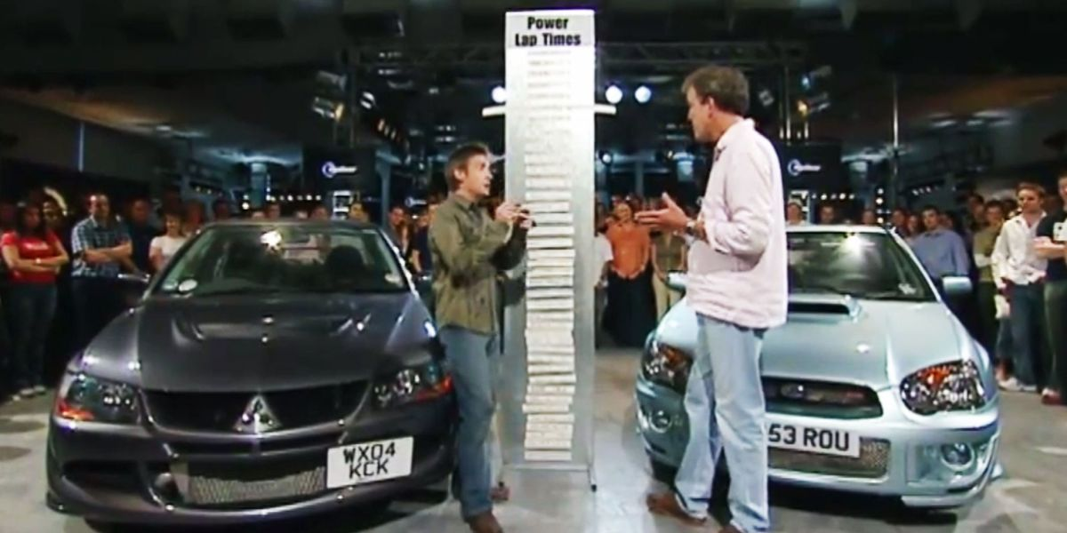 mitsubishi evo vs subaru sti on top gear. Black Bedroom Furniture Sets. Home Design Ideas