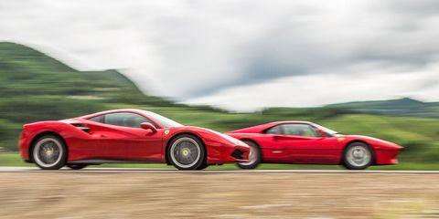 Tire, Wheel, Mode of transport, Automotive design, Transport, Vehicle, Performance car, Car, Red, Sports car,