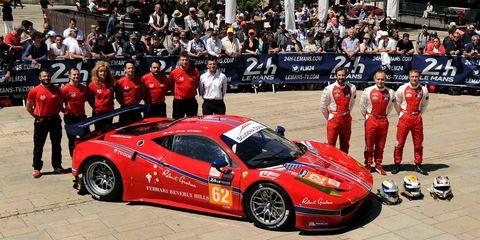 Townsend Bell Ferrari 458 Le Mans