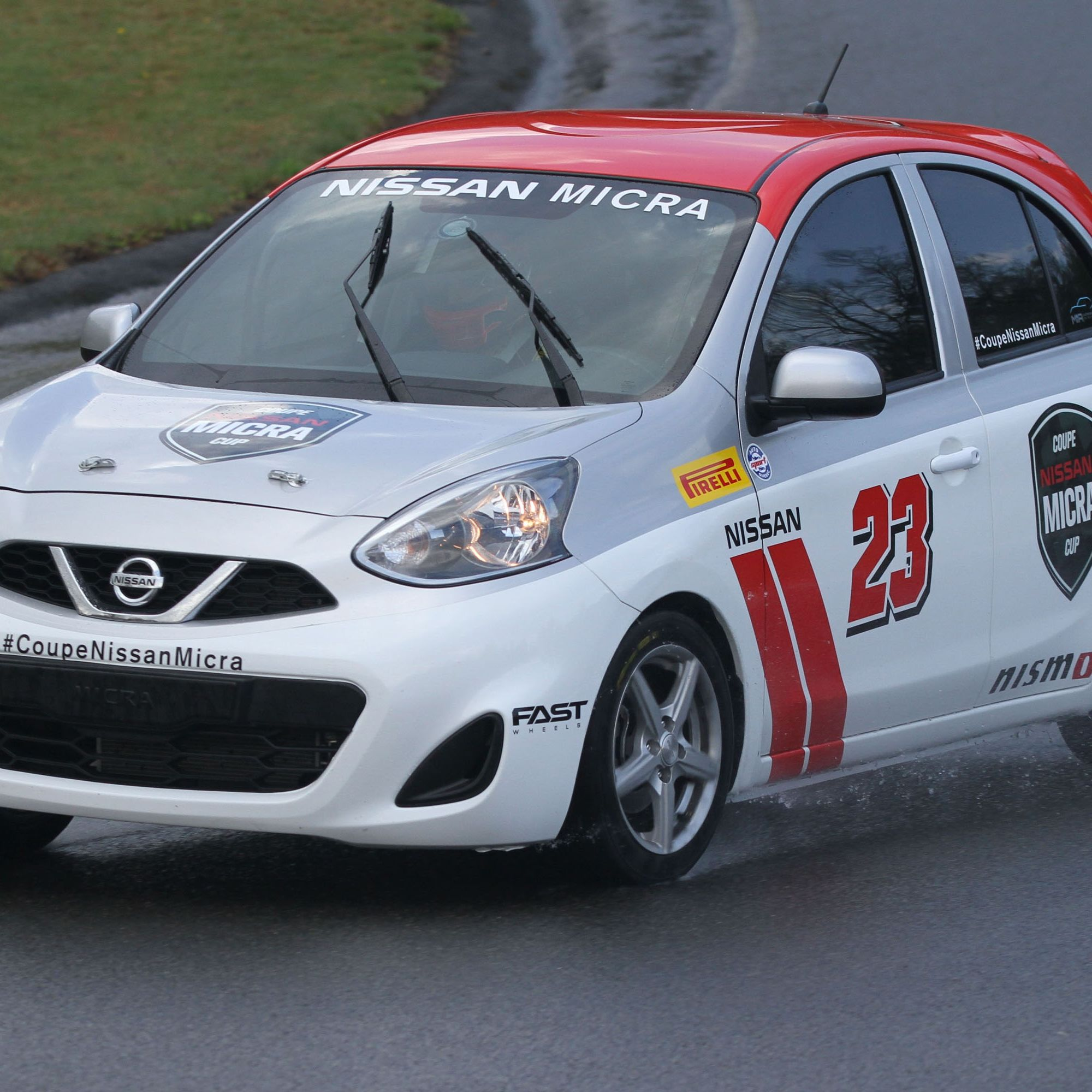 Nissan Micra Cup media drive at Circuit Mont-Tremblant