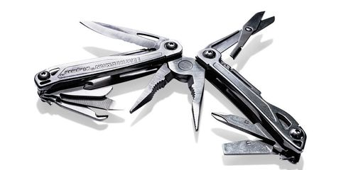 """<p>The Wingman's 14-tool arsenal handles daily tasks with ease.</p><p>In addition to the standard blade and file, this 3.8-inch stainless- steel bundle holds a wire cutter and stripper, spring-loaded pliers, screwdrivers, and more. <em>($40, <a target=""""_blank"""" href=""""http://leatherman.com"""">leatherman.com</a>)</em></p><p><em><strong>Photo by Josh Scott</strong></em></p>"""