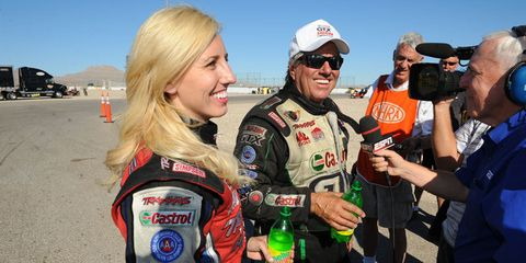 "It's a pretty short list of father/daughter teams in the racing world, but one name stands out above all others: Force. John has been a dominant force in NHRA Drag Racing for decades, with 143 career victories, and 16 Funny Car Championships. Together with his daughters — and son-in-law Robert Hight, Ashley's husband — the Forces are known as ""The First Family of Drag Racing."" For good reason, Ashley defeated her father in 2008 to earn an NHRA Professional-category win. Courtney followed right along behind Ashley (and is engaged to Graham Rahal, who also appears on this list), while Brittany was so successful in 2014, her second year in a top fuel dragster that RACER Magazine named her Rookie of the Year for all motorsports."