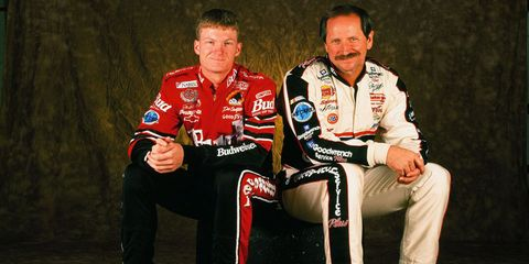 "The late, great Dale Earnhardt—aka ""The Intimidator""—is one of the most successful NASCAR drivers of all time, winning 76 Winston Cup races during his career. On top of that, Dale won seven Winston Cup Championships, an achievement matched only by Richard Petty—who, not so coincidentally, is also on this list. Dale's son, Dale Jr., might not be as successful as his father in terms of wins, but he's the unrivaled fan favorite of NASCAR, having won the Most Popular Driver award 12 consecutive times. Which isn't to say he's a slouch behind the wheel: Dale Jr. secured successive Busch Series Championships in 1998 and '99 and has won the Daytona 500 twice, in 2004 and 2014."