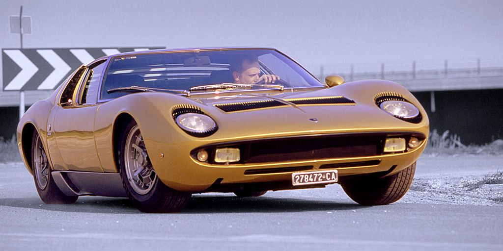 The original Miura became the S. It had some cosmetic revisions and an extra 20 horsepower. Oh, Miles Davis also crashed one while he was high on cocaine.
