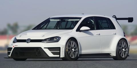 This is a 300-hp Volkswagen Golf Touring Car Concept