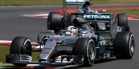 Lewis Hamilton Nico Rosberg Silverstone British Grand Prix