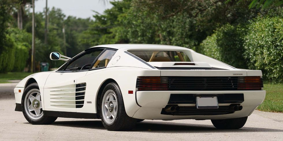 ... Was: This 1986 Ferrari Testarossa, An Original Car Used In The Legendary  TV Show Miami Vice, Is Going Up For Sale For A Third Time At Mecumu0027s  Monterey ...