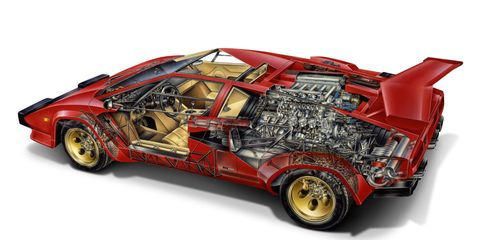 Go Ahead And Stare At These Incredible 1980s Supercar Cutaways