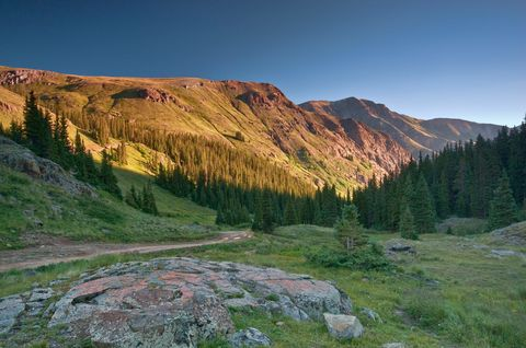 <p>To get to the Alpine Loop Trail, you'll have to head five hours southwest of Denver until you reach Lake City…then hang a right. Okay, it's a bit trickier than that, but not much. Traversing the San Juan Mountains, this 63-mile trail crosses two 12,000-foot passes, past seven ghost towns, and right by more more breath-taking vistas than you can count. Most of the trail is suitable for 2WD vehicles; however, 4x4s with high ground clearance are recommended if you want to find the best views. And, for Californians unfamiliar with seasons, just a word of warning: portions of the Alpine Loop is closed during winter—so don't even try.</p>