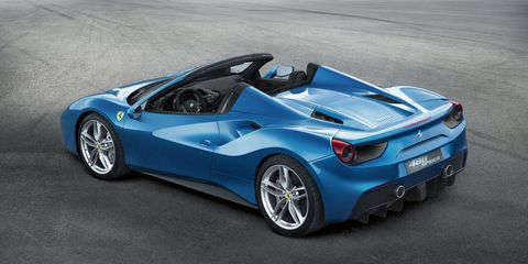 Here's the Ferrari 488 Spider