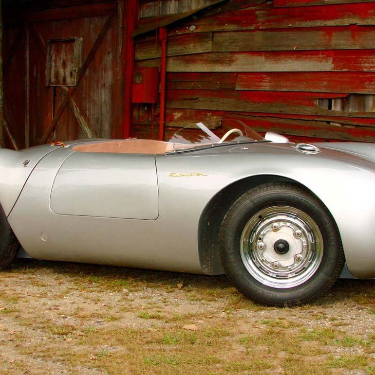 "<p class=""p1"">Plenty of companies make 550 Spyder replicas, but only a few do it right. It's easy to modify a Beetle floor plan and lay down some fiberglass. That's why the Beetle is such a popular kit car. <a href=""http://550spyderforsale.com/#/main/"" target=""_blank"">This one</a> doesn't have a fiber of fiberglass in it. It's a bespoke alloy body and hand-fabricated frame, and the base car (no cheap thing at $320k) uses a Porsche 912 1.7-liter flat four. Prices go up from there. <a href=""http://www.roadandtrack.com/new-cars/road-tests/reviews/a5532/performance-tests-road-tests-spyder-creations-550-spyder/"" target=""_blank"">They'll even source a four-cam motor</a>, if you can pay for it.</p>"