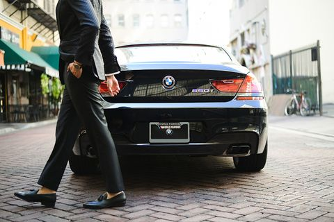 <p>With an exterior as sleek as the interior, this BMW makes just opening the car door a stylish act.</p>
