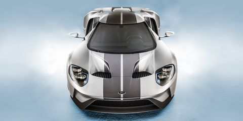 """""""The car was designed and built based on the rules of a racing-series governing body, yet it will be a road car. Look at the way the air is managed over the bodywork, then look at the cabin space—it's all built to these rules, but it's absolutely beautiful.  Stunning but purposeful. And I love the fact that Ford is back in that moment it enjoyed in the Sixties.""""  Photograph by Josh Scott"""