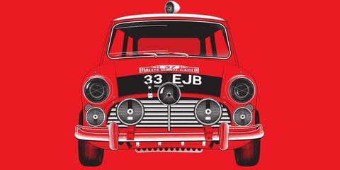 Mini Cooper S Monte Carlo Rally Print