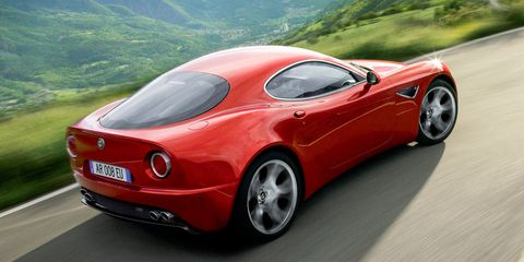 """<p>""""The 8C reminded me of Zagato-bodied Alfa Romeos. They have extra bumps, extra shapes that are so beautiful. The moment the 8C came out as a showcar, it hit you. It was so sexy, so organically beautiful. It had a nostalgic purity that simply didn't exist in any other contemporary car.""""</p><p><em>Photograph by Alfa Romeo</em></p>"""
