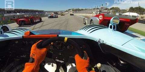 Ride Along with Marino Franchitti in a Gulf Mirage at the Monterey Historics