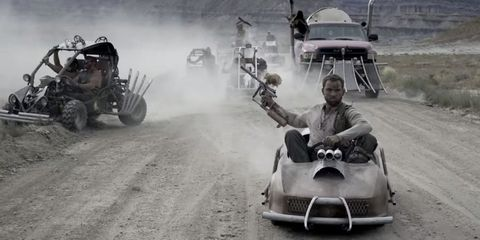 Mad Max Fury Road Chase Scene Recreated with Paintball Guns, Go-Karts