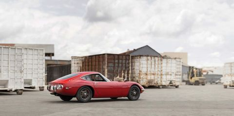 <p>This is Toyota 2000GT chassis No. 10083, the first of its extremely rare breed that was built for export to the U.S. <em>All photos courtesy RM Sotheby's.</em></p>