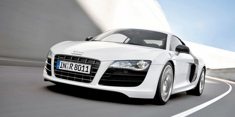 <p>Not long after the R8 came out, Audi introduced the 5.2 liter V10 version, an engine based off of Lamborghini's Gallardo LP560-4. Performance was impressive: 525 bhp and 391 lb.-ft. of torque. </p>