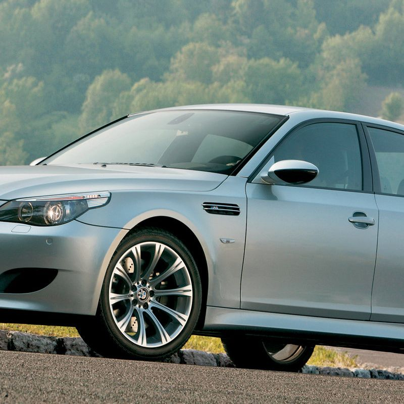<p>The mid-2000's was an age where carmakers could slap big engines into big sedans and no one complained. The 2005 M5 is the product of such a sentiment. Bellowing up to a redline of 8,250 rpm, the 5.0 liter, F1-derived V10 produced 500 bhp and 380 lb.-ft. of torque.</p>