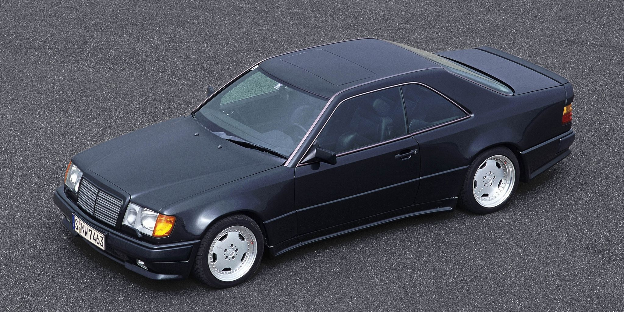 <p>Yep, the name means the same in German as it does in English. The Hammer could sprint to 60 in five seconds. In <em>1986</em>. This was the fastest people-carrying sedan in its day with a 5.6 liter V8 producing 360 bhp.</p>