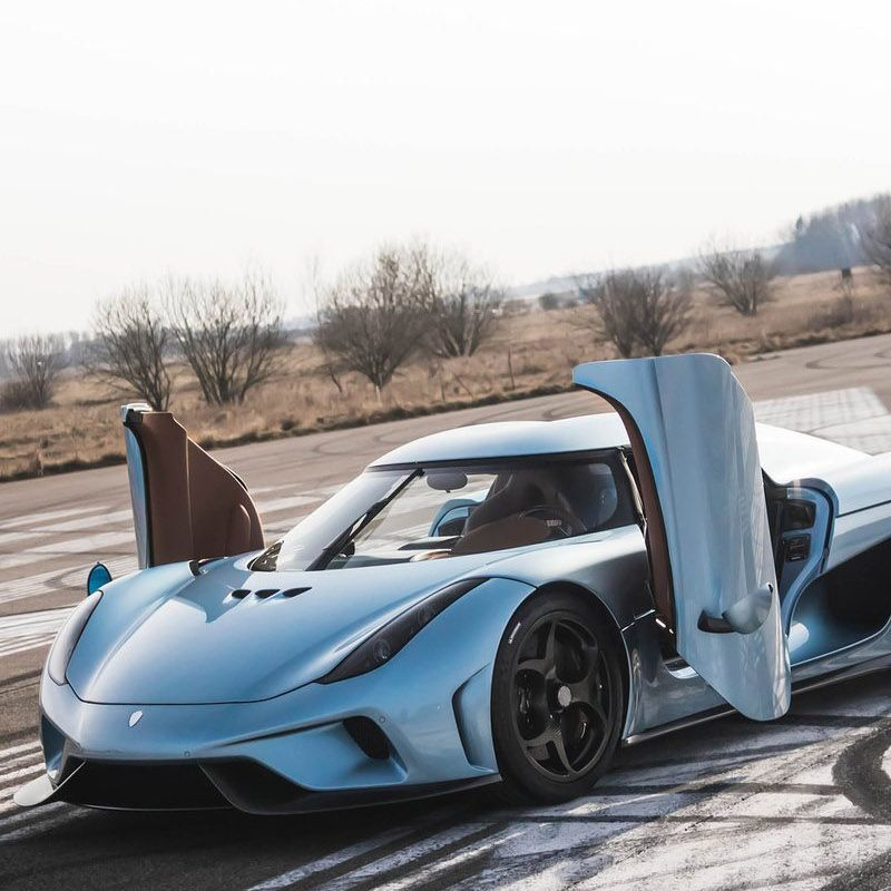 "<p>Perhaps the most fascinating upcoming hypercar is the Koenigsegg Regera because <a href=""http://www.roadandtrack.com/car-shows/geneva-auto-show/news/a25167/koenigsegg-regera-hypercar-first-look-details/"">it has no gearbox</a>. Instead, the 5.0 liter twin-turbo V8 sends 1100 bhp to three electric motors. The first is attached to the front of the crankshaft and drives power to both the battery and the two motors that drive the rear wheels. The Regera has a full-electric range of about 22 miles and a total power output of 1,500 bhp. The car utilizes regenerative braking to cut down the charge time.</p>"